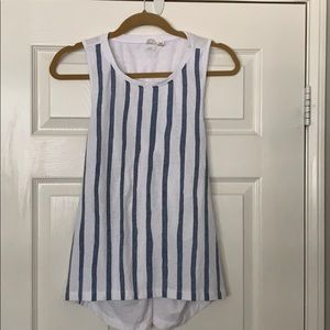 Roxy Blue and White Striped Top
